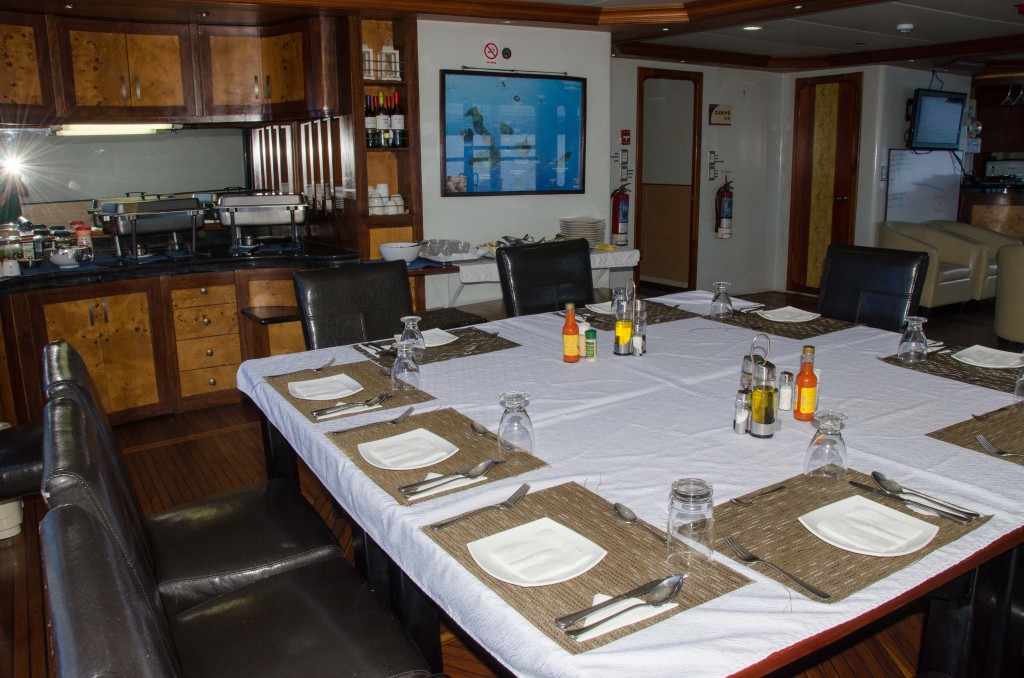 Dining on a Galapagos Cruise