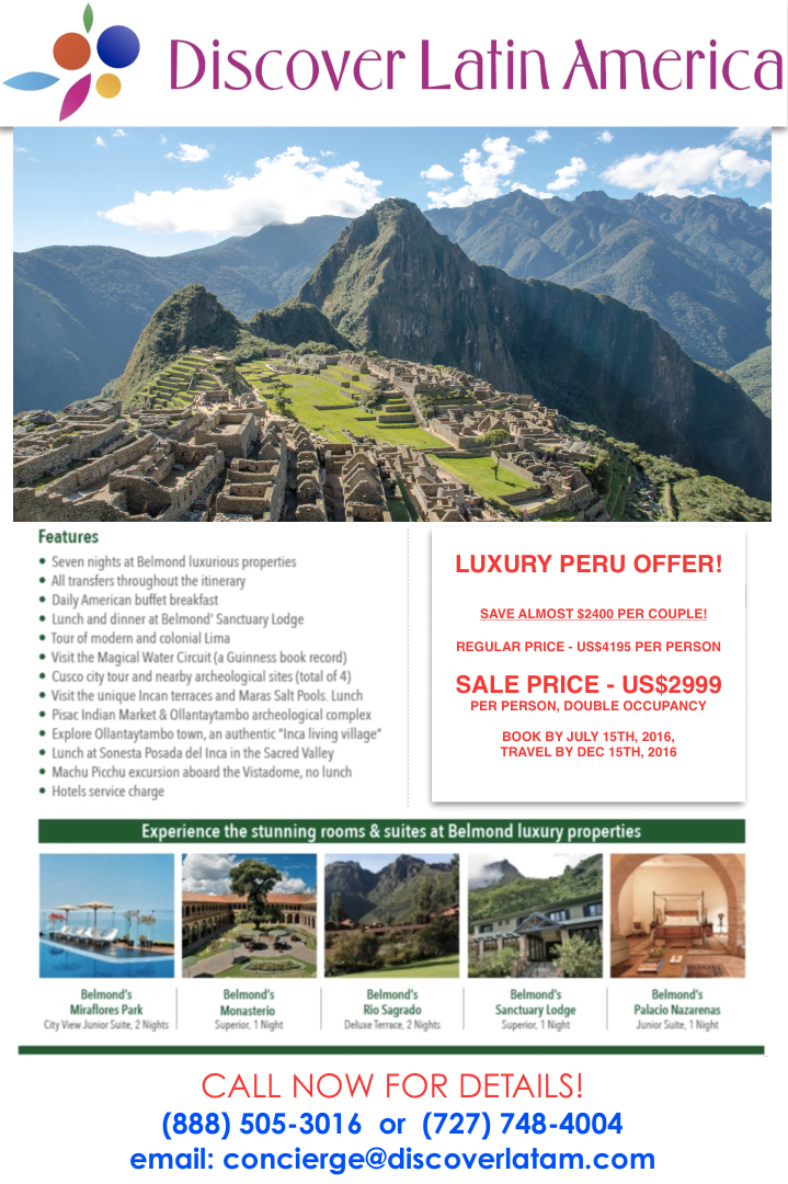Luxury Peru Tour on Sale!